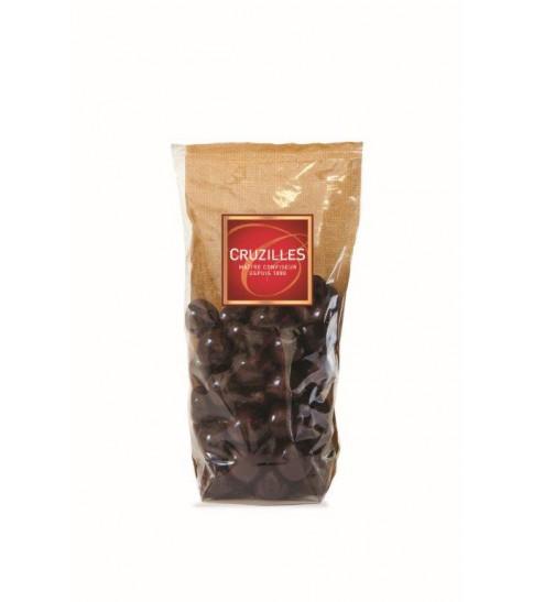 Framboisettes enrobées de chocolat noir, Sachet 200g