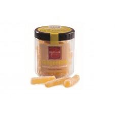 Bonbonnière de bâtonnets de gingembre confits cristallisés, 120g