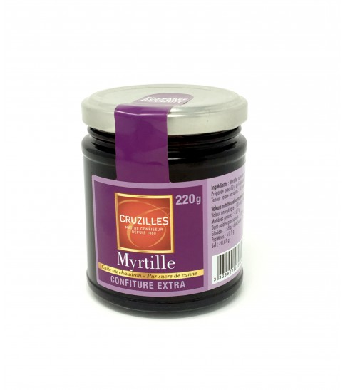 Confiture extra Myrtille, pot 220g