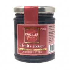 Confiture 220 g 4 fruits rouges