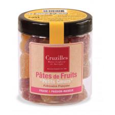 Pâtes de fruits en forme de Coeur saveur fraise et passion/mangue, 150g